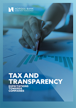 Front page of expectations document on tax and transparency