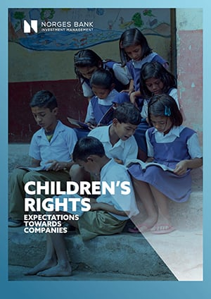 Front page of expectations document on children's rights