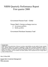 1Q 2008 Quarterly report